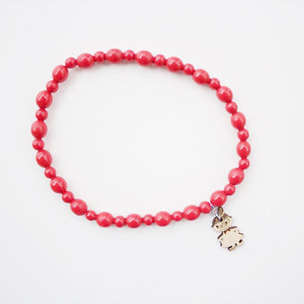 Moomin Wooden Bead Necklace red, Little My by Showroom Finland