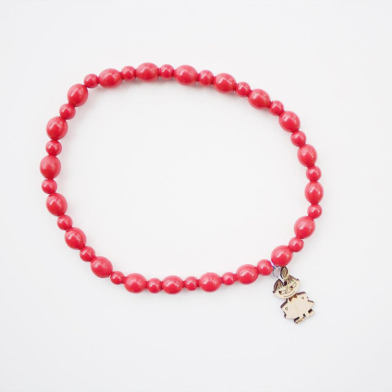 Moomin Wooden Bead Necklace red, Little My by Showroom Finland - The Official Moomin Shop