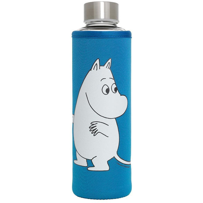 Moomintroll glass bottle blue 500 ml - The Official Moomin Shop