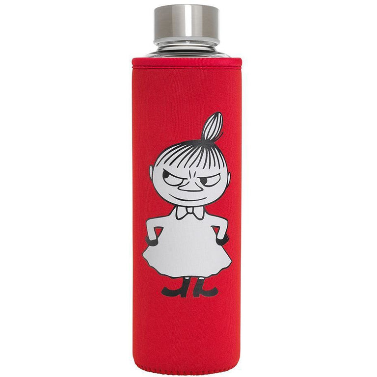 Little My glass bottle red 500 ml - The Official Moomin Shop