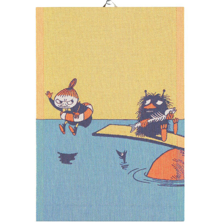 Moomin #OURSEA 'Little My and Stinky' kitchen towel by Ekelund - The Official Moomin Shop