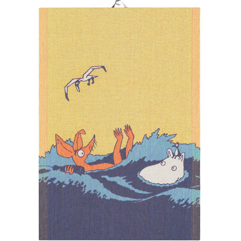 #OURSEA Moomin 'Waves' kitchen towel by Ekelund - The Official Moomin Shop