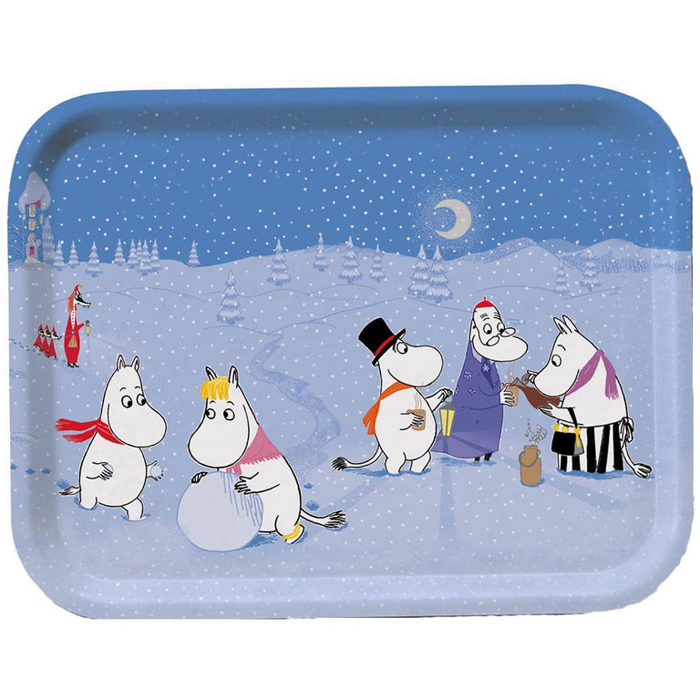 Moomin Winter Games Tray 27 x 20cm - Opto Design - The Official Moomin Shop