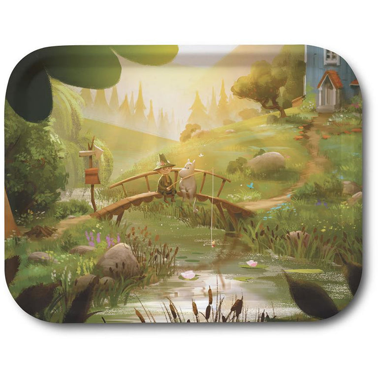 MOOMINVALLEY Snufkin & Moomin tray 27x20cm - The Official Moomin Shop