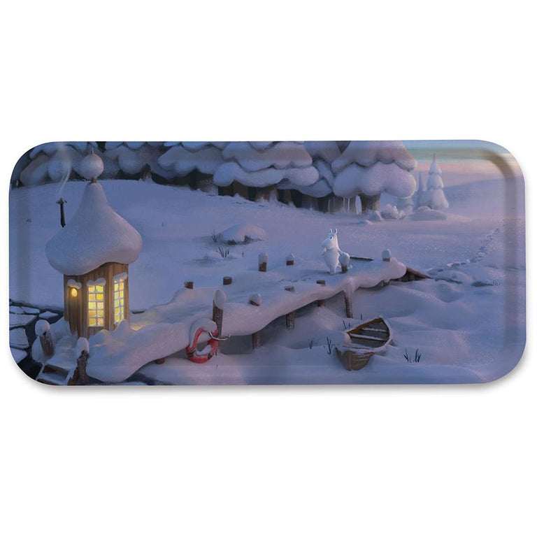 "Moominvalley ""Snowbridge"" Tray - Opto Design - The Official Moomin Shop"