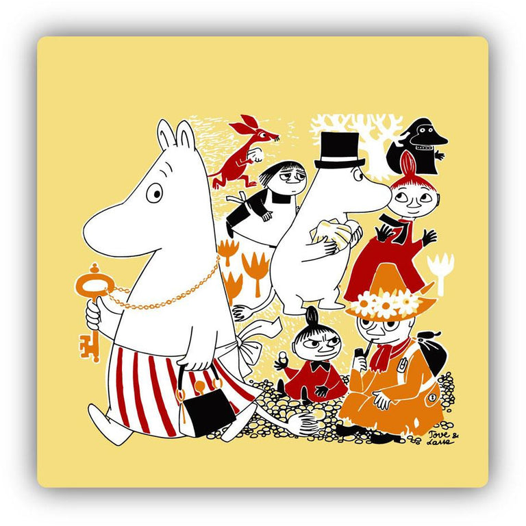 "Moomin ""Jubilee"" coaster set 4-pack- Limited edition - Moomin Shop - The Official Moomin Shop"