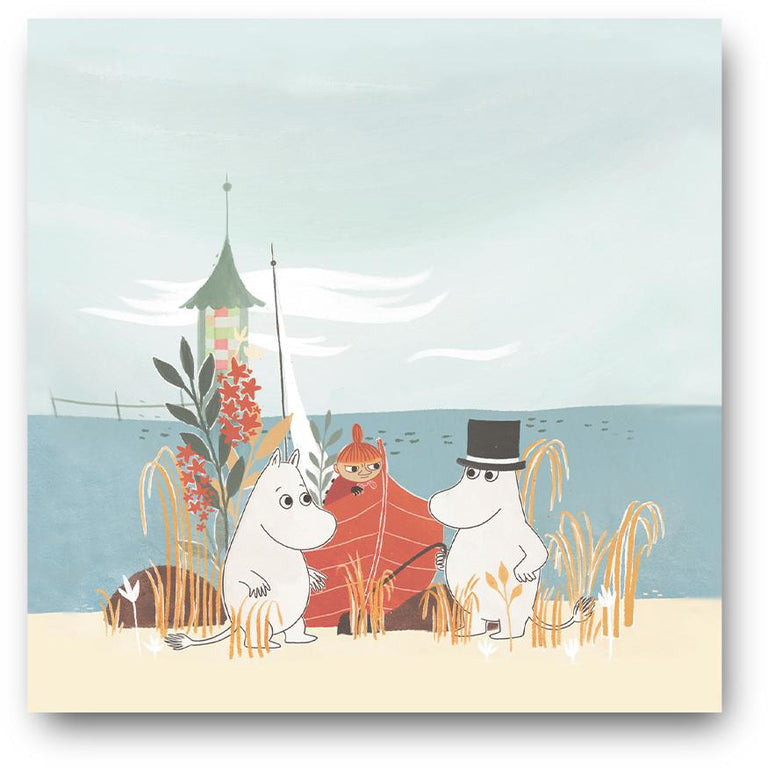 #OURSEA Moomin Boat on the beach Napkins - Opto Design - The Official Moomin Shop