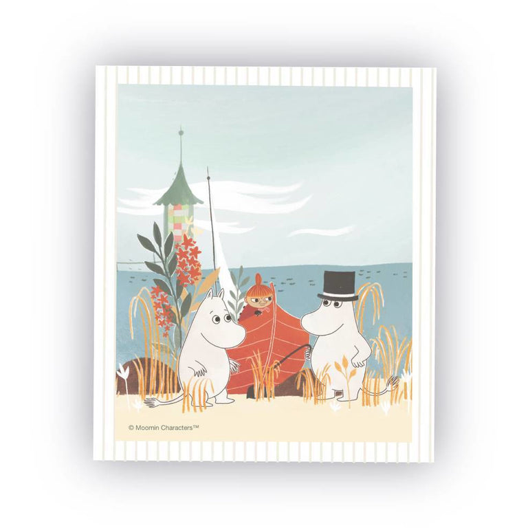 "#OURSEA Moomin ""Boat on the beach"" Dish cloth - Opto Design - The Official Moomin Shop"
