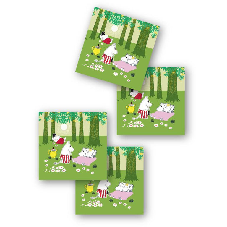"Moomin ""Verdant Summer"" Coasters 4-pack - Opto Design - The Official Moomin Shop"