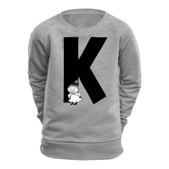 K - Moomin Alphabet Sweatshirt - feat. Moomin, Little My and Snufkin - The Official Moomin Shop