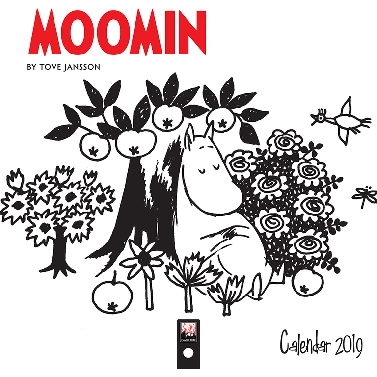 Moomin 2019 wall calendar 18x18 cm - Flame Tree - The Official Moomin Shop