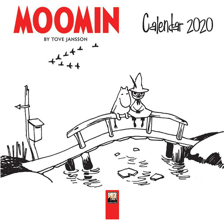 Moomin 2020 Wall Calendar B&W 18x18 cm - Flame Tree - The Official Moomin Shop