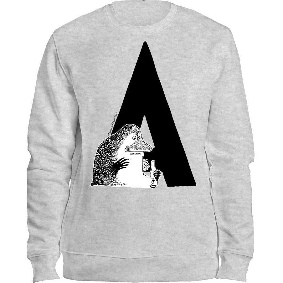 Moomin Alphabet Sweatshirt - feat. the Groke in A to Ö - The Official Moomin Shop