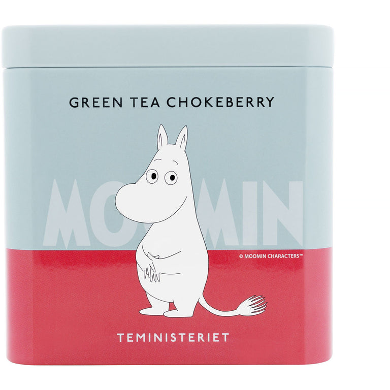 "Moomintroll Green Tea ""Chokeberries"" tin - Teministeriet - The Official Moomin Shop"