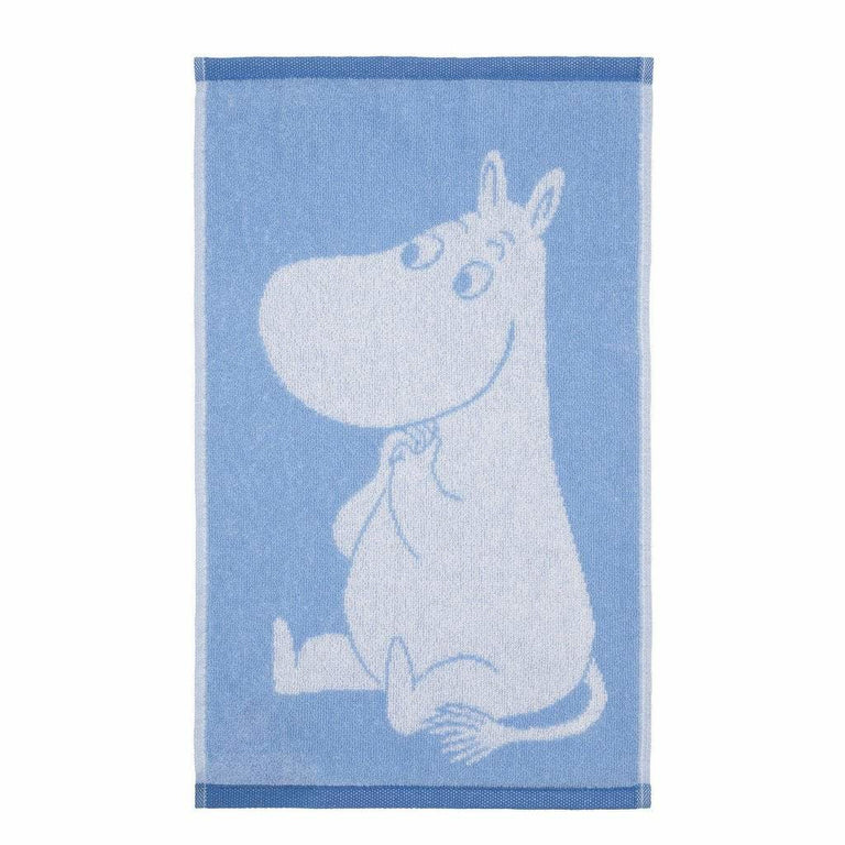 Moomintroll Blue Love Hand Towel 30 x 50 cm by Finlayson - The Official Moomin Shop