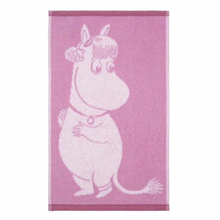 Snorkmaiden Pink Love Hand Towel 30 x 50 cm by Finlayson - The Official Moomin Shop