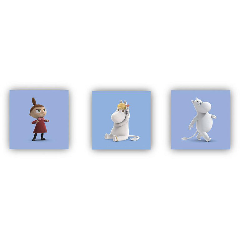 "Moominvalley ""Characters"" Coasters blue 6-pack - Opto Design - The Official Moomin Shop"