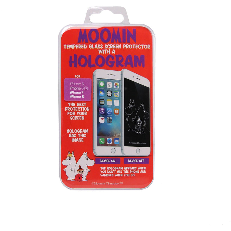 Tempered glass screen protector with a Moomin, Snorkmaiden and Little My hologram for iPhone 6/6S/7/8 - The Official Moomin Shop