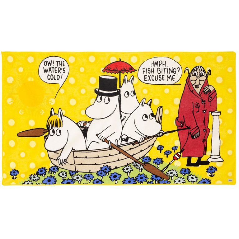 Moomin family bath towel 100 x 180 cm - Nordicform - The Official Moomin Shop