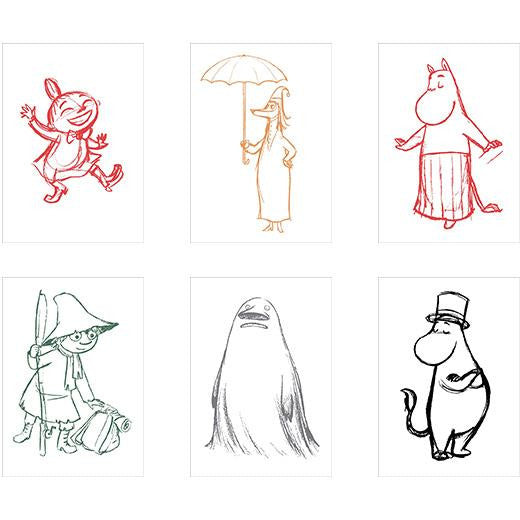 Moomin Sketch Postcard Set - Putinki - The Official Moomin Shop