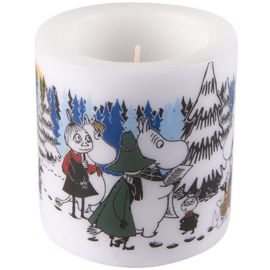 "Moomin ""Winter Forest"" Candle 8cm - Muurla - The Official Moomin Shop"