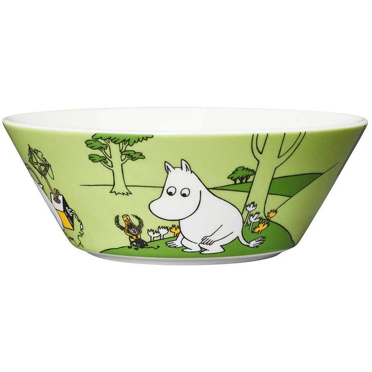 Moomintroll Bowl green - Arabia - The Official Moomin Shop