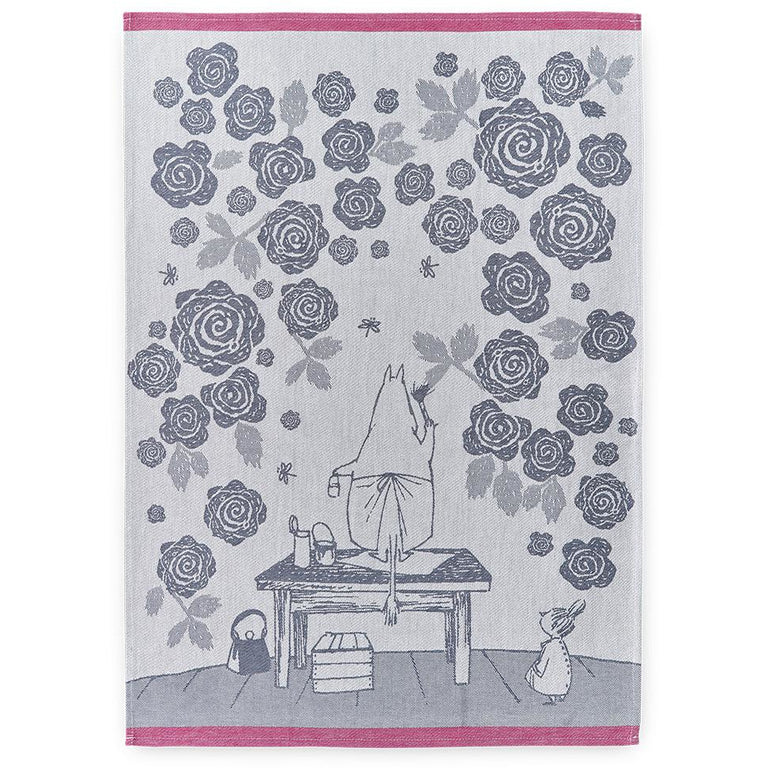 Moominmamma's Roses kitchen towel by Finlayson - The Official Moomin Shop