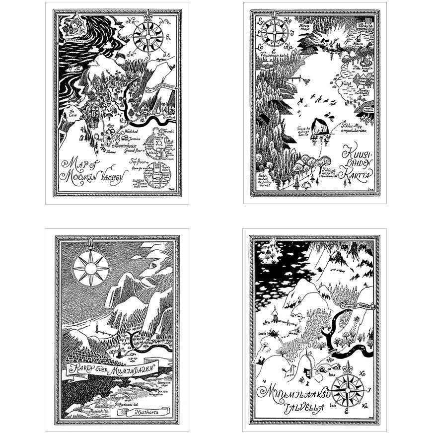 Moominvalley Map Postcard Set - Putinki - The Official Moomin Shop