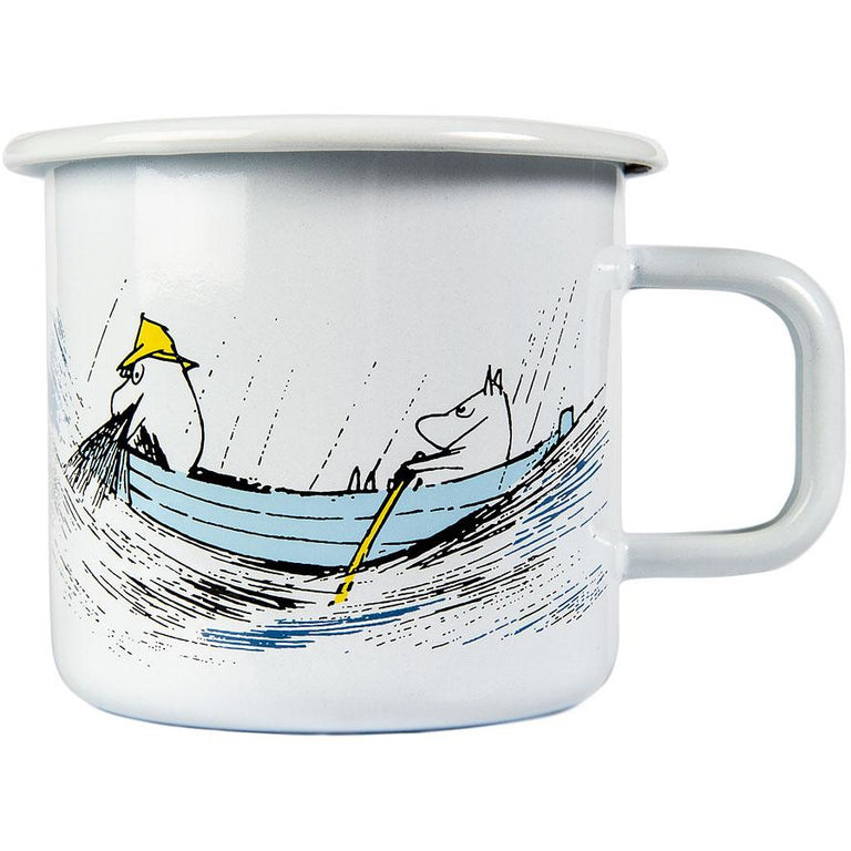 Moomin Originals Gone Fishing enamel mug 3,7 dl - Muurla - The Official Moomin Shop