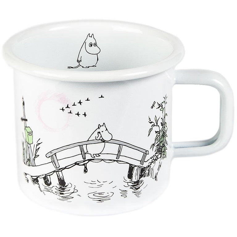 Moomin Originals Missing You enamel mug 3,7 dl - Muurla - The Official Moomin Shop