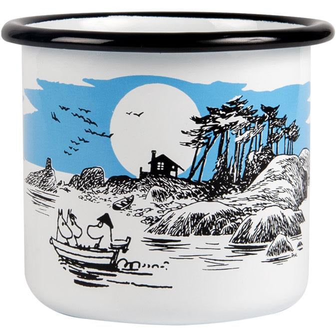 Moomin The Island enamel mug 3,7dl - The Official Moomin Shop