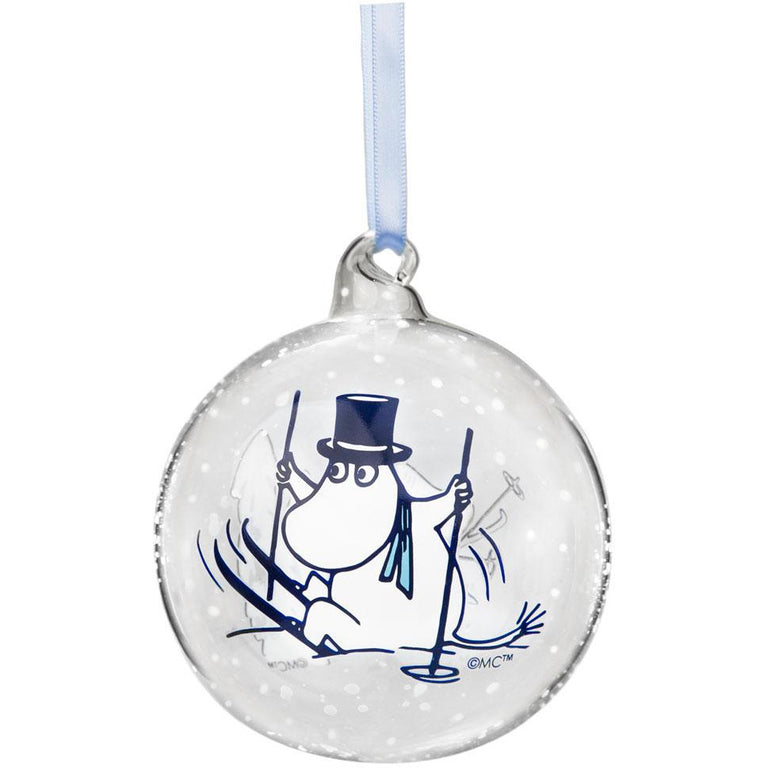 Moomin Winter Time with Moominpappa and Moominmamma Decoration Ball 9cm - Muurla - The Official Moomin Shop