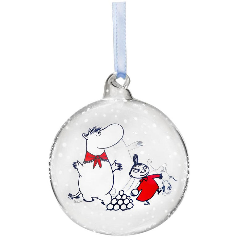 Moomin Winter Happiness Decoration Ball 9cm - Muurla - The Official Moomin Shop