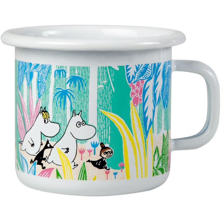 Moomins in the Jungle enamel mug 2,5dl - The Official Moomin Shop