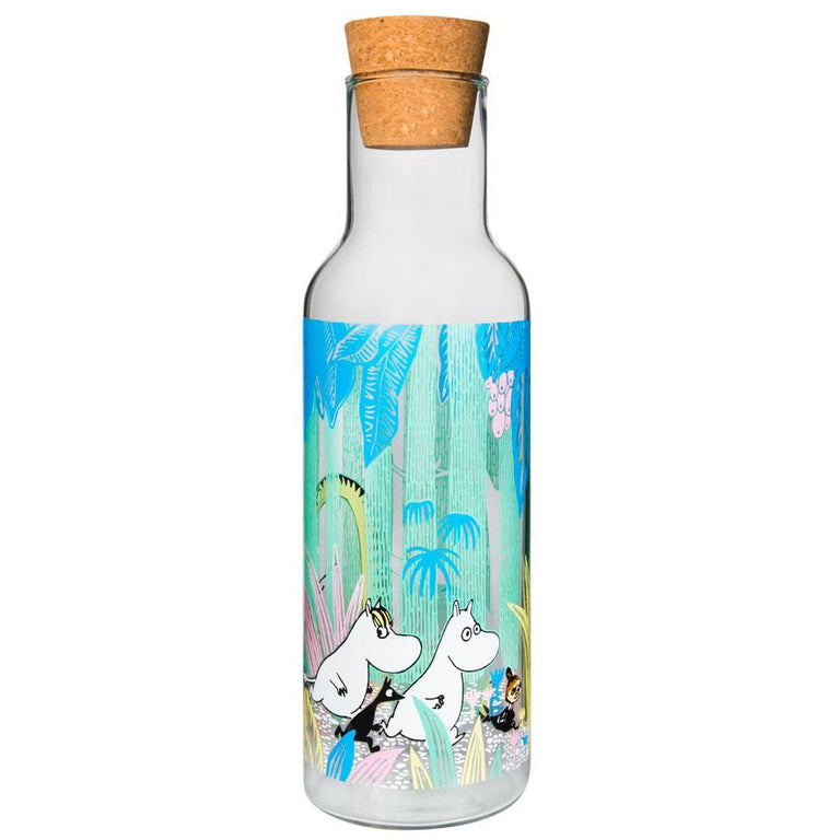 "Moomin ""in the Jungle"" Glass Bottle 1 l - Muurla - The Official Moomin Shop"