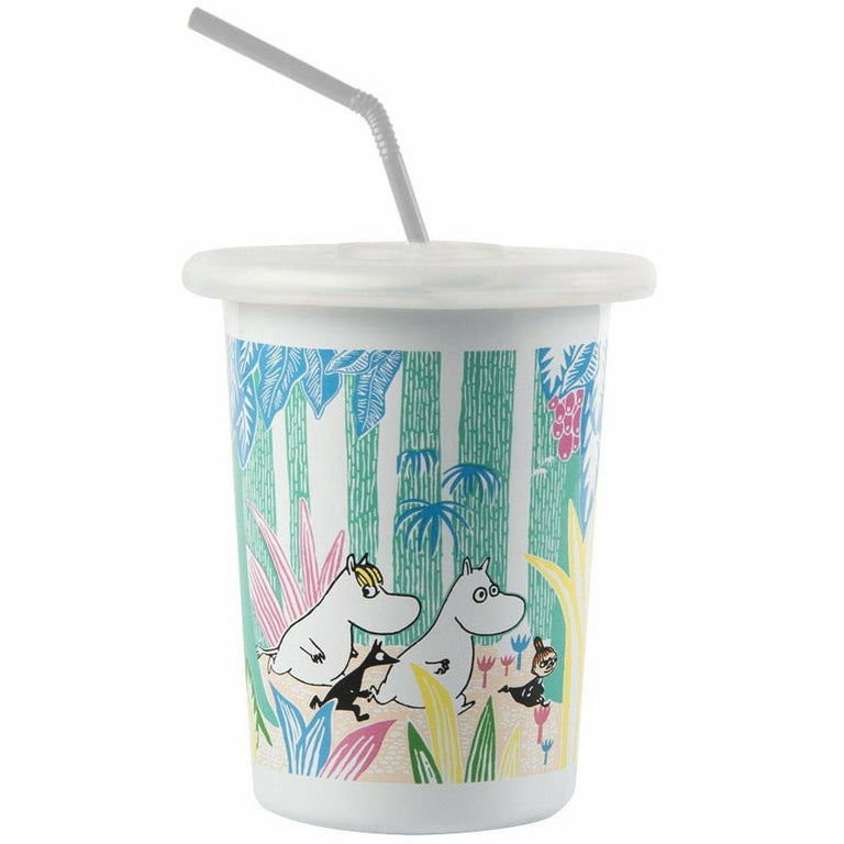 Moomins in the jungle enamel tumbler 5dl - The Official Moomin Shop