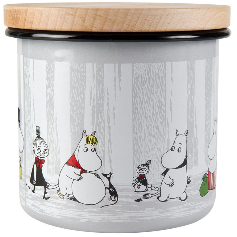 "Moomin ""Winter Trip"" Jar 12cm - Muurla - The Official Moomin Shop"