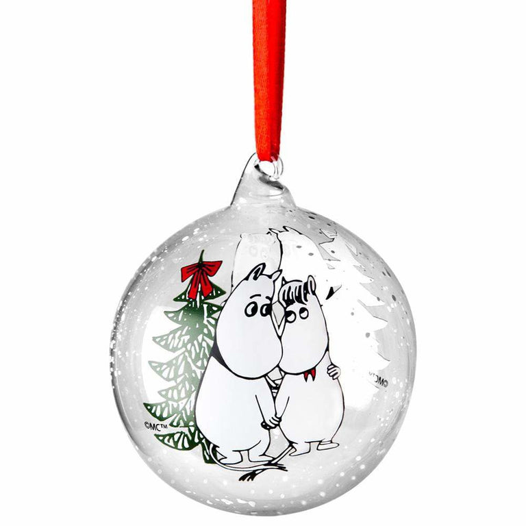 Moomin Winter Magic decoration ball 9cm - Muurla - The Official Moomin Shop