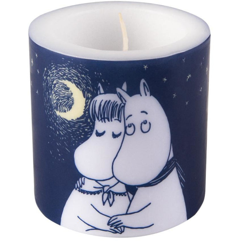 Moomin Winter Romance candle 8cm - Muurla - The Official Moomin Shop
