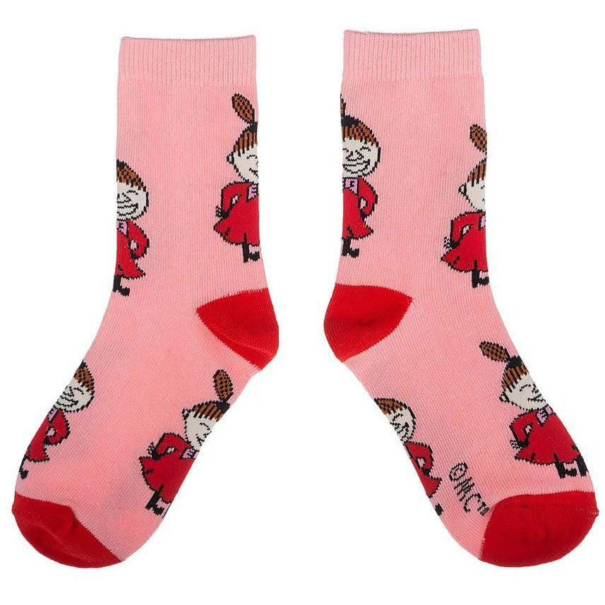 Little My Kids Socks Pink - Nordicbuddies - The Official Moomin Shop