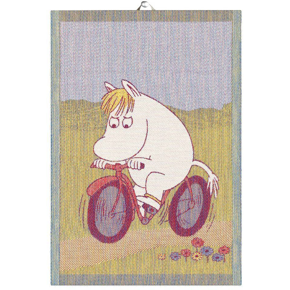 Moomin Bike Path Kitchen Towel - Ekelund - The Official Moomin Shop