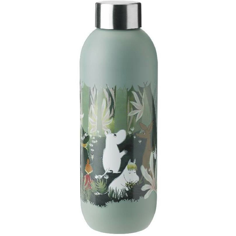 Moomin Drinking Bottle 0,75 l dusty green - Stelton - The Official Moomin Shop