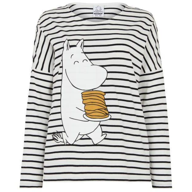 Moomin Pancake Stripe T-shirt - People Tree - The Official Moomin Shop
