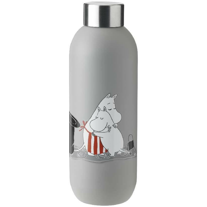 Moomin Drinking Bottle 0,75 l soft light grey - Stelton - The Official Moomin Shop