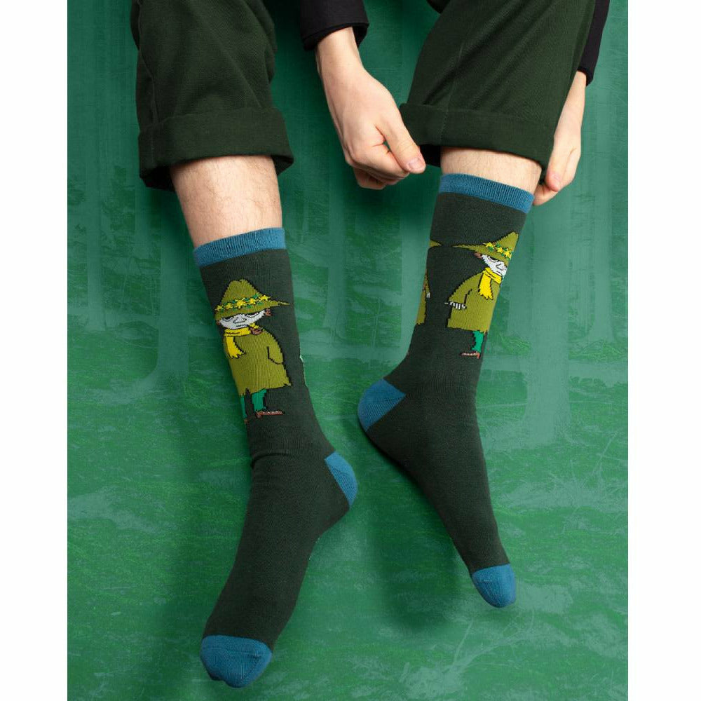 Snufkin Travelling Men Socks Green - Nordicbuddies - The Official Moomin Shop