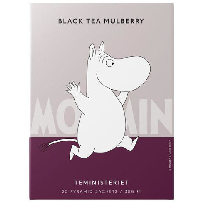 "Moomintroll Black Tea ""Mulberry"" pyramid - Teministeriet - The Official Moomin Shop"