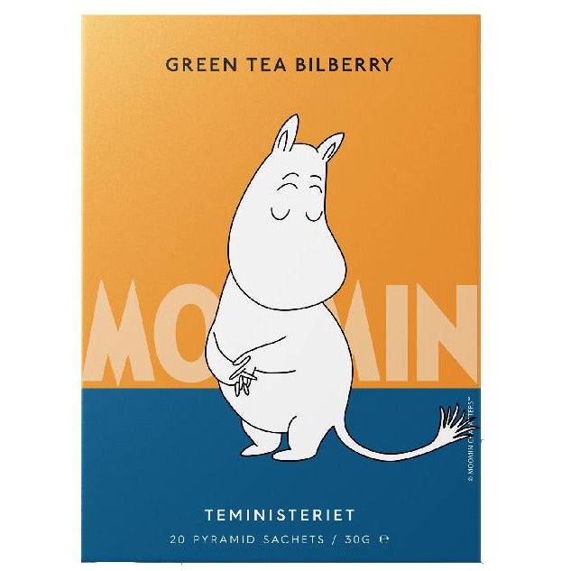 "Moomintroll Green Tea ""Bilberry"" pyramid - Teministeriet - The Official Moomin Shop"