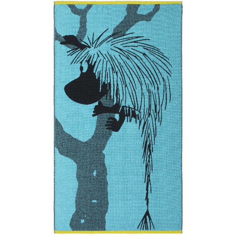 Ancestor bath towel turquoise 70 x 140 cm by Finlayson - The Official Moomin Shop