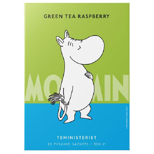 "Moomintroll Green Tea ""Raspberry"" pyramid - Teministeriet - The Official Moomin Shop"