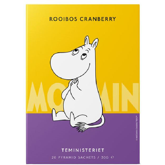 "Moomintroll Rooibos Tea ""Cranberry"" pyramid - Teministeriet - The Official Moomin Shop"